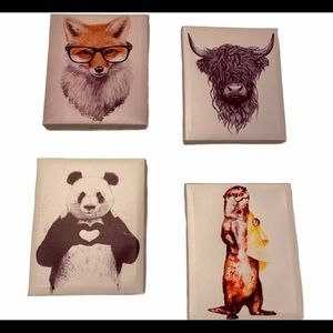 PRICE FIRM ⭐️ 🔥RARE🔥Animal Canvas Wall Panels
